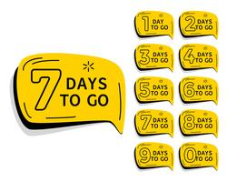 days left countdown timer for sale and promotion
