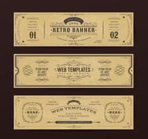 Vintage Website Banners Templates