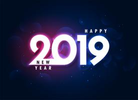 2019 colorful happy new year glowing background