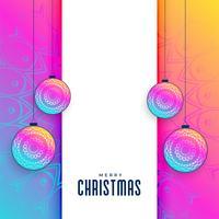 fundo de saudação criativo de Natal vibrante