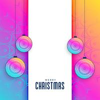 vibrant creative christmas greeting background