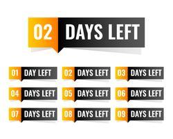 numero di giorni di progettazione dell'adesivo sinistro
