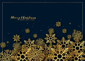 golden christmas snowflakes background decoration