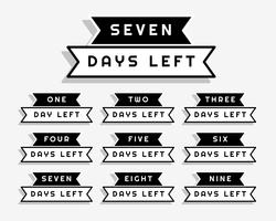 ribbon style number of days left sale and promotion banner