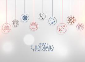 Diseño de fondo de elementos de Navidad decoración