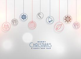 christmas elements decoration background design