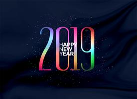 elegant 2019 happy new year colorful background