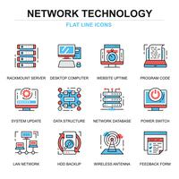 Network Technology Icons Set