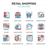 Shopping and E-commerce Icon Set