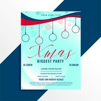 biggest christmas party flyer template