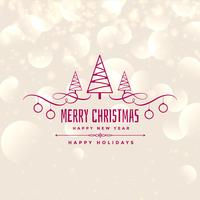 lovely merry christmas shiny background design