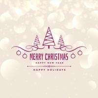 lovely merry christmas shiny background design