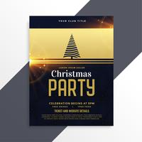 luxury golden christmas party flyer template