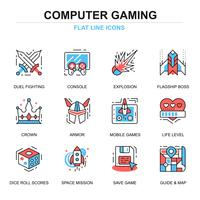 Freizeit Mobile Gaming Icon Set