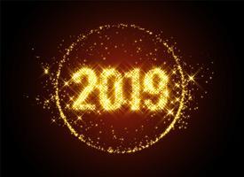 nieuw jaar 2019 schittert achtergrond