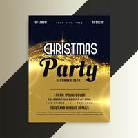 shiny golden premium christmas invitation party flyer template