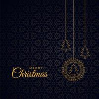 stylish merry christmas dark background with trees