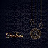 élégant fond sombre de Noël joyeux avec des arbres