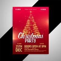 röd glänsande julparti affischdesign mall