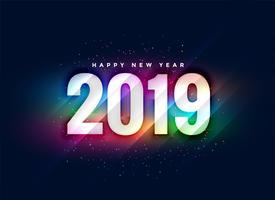 2019 colorful shiny new year background