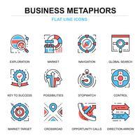 Bedrijfsproces Icon Set