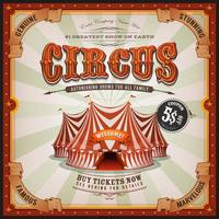 Vintage Old Square Circus Poster