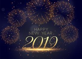 Schöner Hintergrund der Feierfeuerwerke 2019