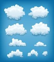 Clouds Set On Blue Sky Background