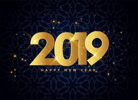 lovely 2019 golden sparkles background