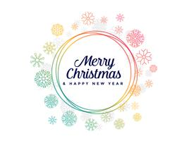 colorful snowflakes frame for merry christmas