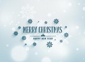 merry chrismtas snowflakes decoration background
