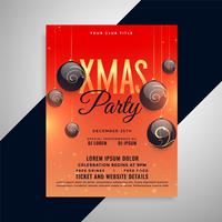 merry christmas party greeting invitation flyer design
