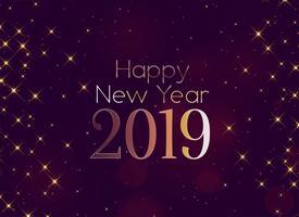 Fondo de destellos de feliz año nuevo brillante 2019
