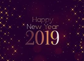 shiny 2019 happy new year sparkles background