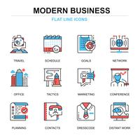 Jeu d'icônes d'affaires moderne