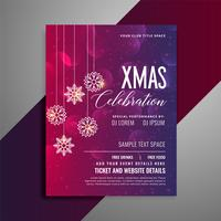 shiny christmas party celebration flyer template