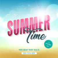 Summer Time Template Banner