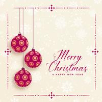 vintage style merry christmas background
