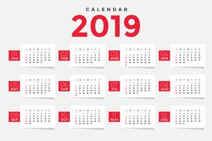 ren 2019 kalender mall design