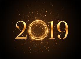 2019 nytt år glänsande guld gnistrar bakgrund
