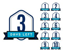 number of days left countdown timer for sale and promotion
