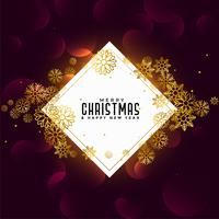 merry christmas golden snowflakes background