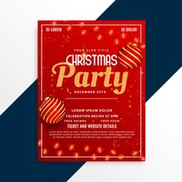 christmas party poster design decorative template