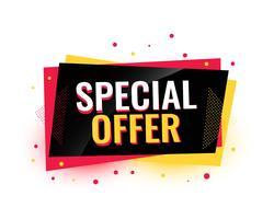 oferta especial design de banner de venda criativa