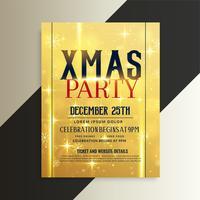 luxury golden christmas flyer design template