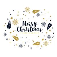 merry christmas background with decorative ornamental elements