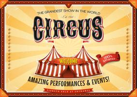 Cartaz grande do circo do vintage com famoso