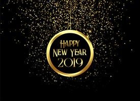 beautiful 2019 happy new year sparkles and glitter background