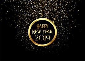 vackra 2019 glada nya år glittrar och glitter bakgrund