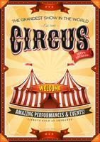 Vintage Grand Circus Poster With Marquee